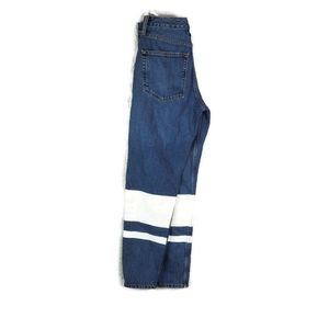 Topshop Moto Button-fly Whie Paint Block Jeans